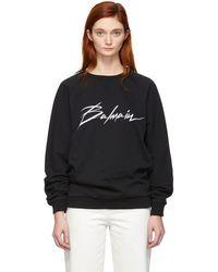 Balmain - Black Signature Logo Sweatshirt - Lyst