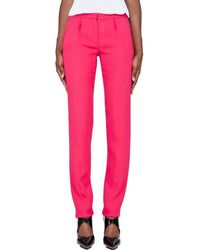 Thakoon - Slim Pink Tucked Trousers - Lyst