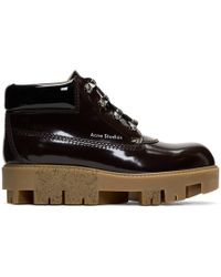 Acne Studios - Brown Tinne Brush Off Boots - Lyst