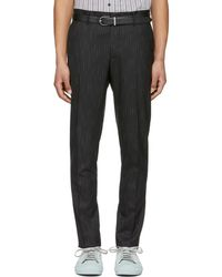 Lanvin - Black And White Bicolor Chino Trousers - Lyst