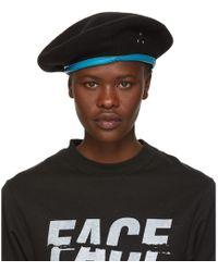 Facetasm - Black Logo Beret - Lyst