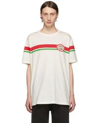 20d62bc1941e Gucci Off-white Patch T-shirt in White for Men - Lyst