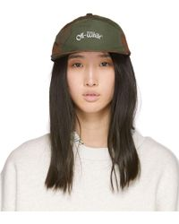 Off-White c/o Virgil Abloh - Green And Brown Camo Snap Cap - Lyst