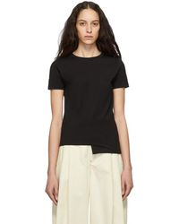 Loewe - Black Asymmetric Anagram T-shirt - Lyst