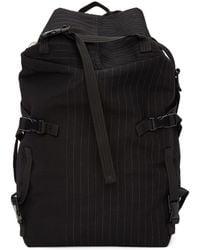 The Viridi-anne - Black Pinstripe Multiple Strap Backpack - Lyst