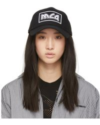 McQ - Black Metal Logo Baseball Cap - Lyst