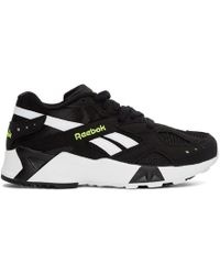 Reebok - Black And White Aztrek Trainers - Lyst