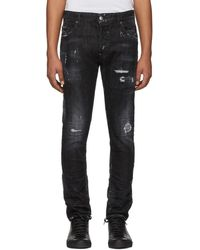 DSquared² - Black Twin Peaks Skater Jeans - Lyst