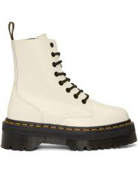 Dr. Martens | White Jadon Boots | Lyst