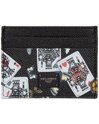 Dolce & Gabbana - Black King Of Hearts Card Holder - Lyst