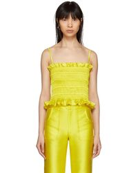 Molly Goddard - Yellow Lara Top - Lyst