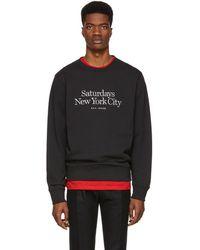 Saturdays NYC - Black Miller Standard Bowery Sweatshirt - Lyst