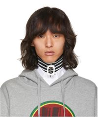 J.W. Anderson | Navy And White Striped Neckband | Lyst