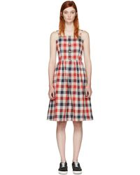 Visvim | Red Check Riviera Dress | Lyst