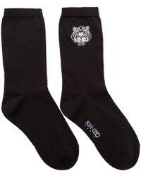 KENZO | Black Tiger Socks | Lyst