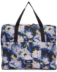 MSGM - Multicolor Eastpak Edition Flowers Tote - Lyst