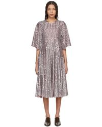 Molly Goddard - Red And Silver Sally Dress - Lyst
