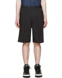 Fendi - Black Silk Shorts - Lyst