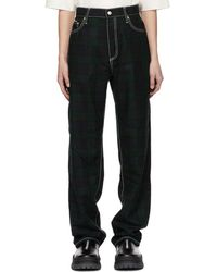 Eytys - Green And Navy Tartan Benz Trousers - Lyst