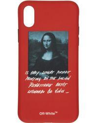 Off-White c/o Virgil Abloh - Etui pour iPhone X rouge Monalisa - Lyst