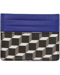 Pierre Hardy | Black And Blue Cube Card Holder | Lyst