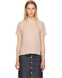 AMO - Pink Twist T-shirt - Lyst