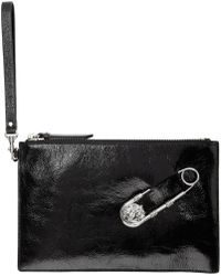 Versus - Black Safety Pin Pouch - Lyst