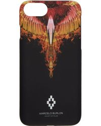 Marcelo Burlon - Black And Orange Flame Iphone 8 Case - Lyst