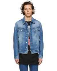 552233e7 Balmain Blue Denim Vintage Destroy Jacket in Blue for Men - Lyst