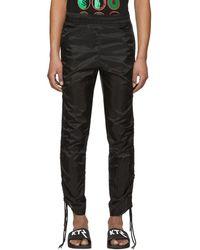 KTZ - Black Drawstring Corded Lounge Trousers - Lyst