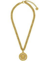 bfe681abdce7 Versace - Collier a chaine dore Large Medusa Crystal - Lyst