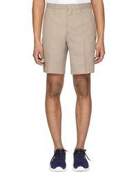 Fendi - Brown And Beige Micro Houndstooth Bermuda Shorts - Lyst