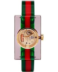Gucci - Red And Green Plexiglass Skeleton Watch - Lyst