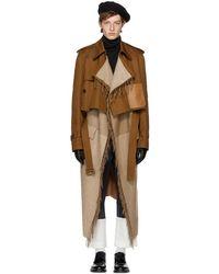 Loewe - Brown Blanket Trench Coat - Lyst