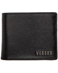 Versus - Black Leather Logo Wallet - Lyst