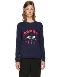KENZO - Navy Limited Edition Eye Sweatshirt - Lyst
