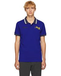 KENZO - Blue Jumping Tiger Polo - Lyst