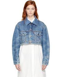 RE/DONE - Indigo Levis Edition Cropped Denim Jacket - Lyst