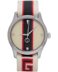 2a273624cf3 Gucci Gold Medium G-timeless Tiger Watch in Metallic for Men - Lyst