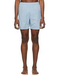AMI - Blue Ami De Coeur Long Swim Shorts - Lyst