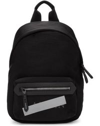 Lanvin - Black Zippered Logo Backpack - Lyst