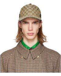 Gucci Original GG Canvas Baseball Hat With Web - Natural