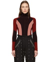 Isabel Marant - Burgundy Colorblock Laddie Zip Sweater - Lyst