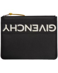 Givenchy - Black Reverse Zip Pouch - Lyst