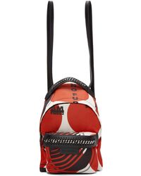 Stella McCartney - Red 'thanks Girls' Mini Falabella Go Backpack - Lyst