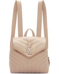 Saint Laurent - Pink Small Monogram Loulou Backpack - Lyst
