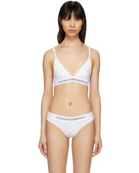 CALVIN KLEIN 205W39NYC - White Cotton Logo Collection Triangle Bra - Lyst