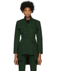 Alexander McQueen - Green Military Jacket - Lyst