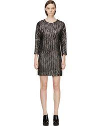 Jay Ahr - Black & Silver Metallic Tweed Dress - Lyst