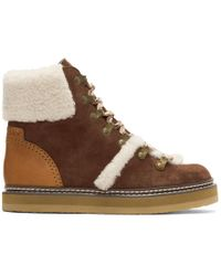 See By Chloé - Eileen Suede Ankle Boots - Lyst